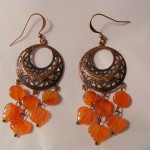 Filigree + Agate Leaves Earrings