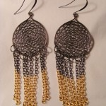 Two Tone Chain Earrings